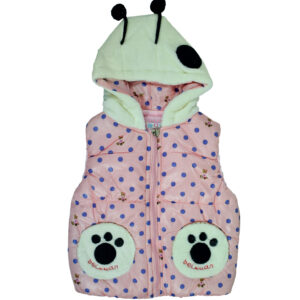 Baby Sleeveless Hooded Jacket - Pink-0