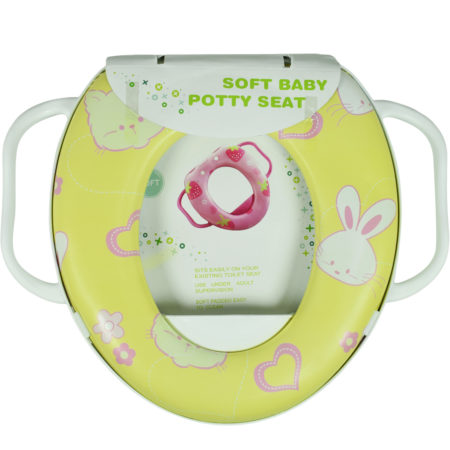 Soft Cushioned Potty Training Seat With Handle - Yellow-0