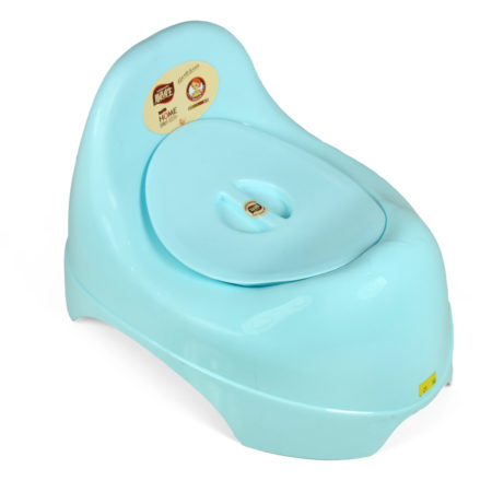 Baby Potty Trainer Chair With Lid - Sky Blue-0