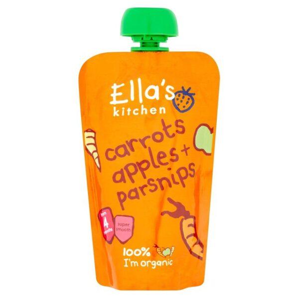 Ella's Kitchen Organic Carrots, Apples + Parsnips 4M+ - 120g -17968