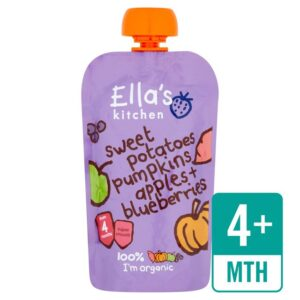 Ella's Kitchen Organic Sweet Potatoes, Pumpkins Apples + Blueberries (4M+) - 120gm-0