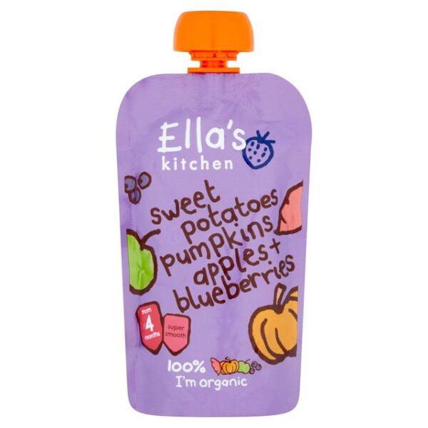 Ella's Kitchen Organic Sweet Potatoes, Pumpkins Apples + Blueberries (4M+) - 120gm-17990