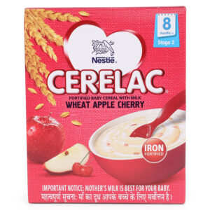 Nestle Cerelac Stage 2 Fortified Baby Cereal Wheat Apple Cherry - 300 gm-0