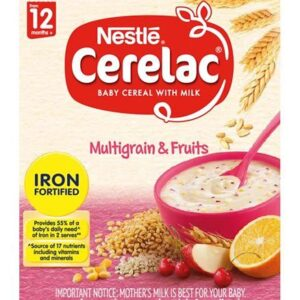 Nestle Cerelac Baby Cereal Multigrain & Fruits Stage 4 (12M+) - 300gm-0