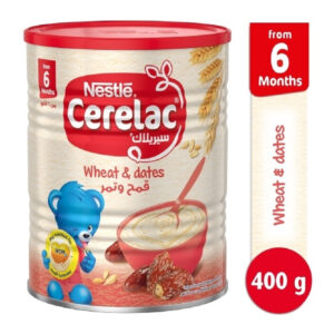 Nestle Cerelac Wheat & Dates, Baby Cereal (6M+) - 400g] -0