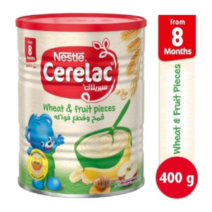 Nestle Cerelac Infant Cereal Wheat & Fruit Pieces (8M+) - 400g -0
