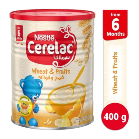 Nestle Cerelac Infant Cereal Wheat & Fruits (6M+) - 400gm-0
