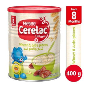 Nestle Cerelac Infant Cereal Wheat & Date Pieces (8M+) - 400g -0