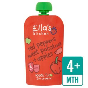 Ella's Kitchen Red Peppers, Sweet Potatoes & Apples -120g -0