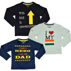 Baby Onli Love Slogan,Quotes T-shirt (6-24 M) - Pack of 3-0