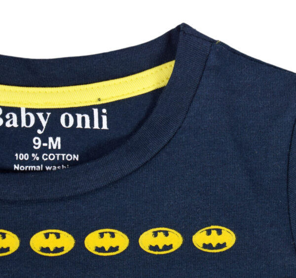 """Baby Onli Funny Slogan (6-24 M) """"I have a Hero i call him Dad"""" (Blue)-17645"""