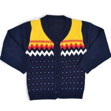Full Sleeve Front Open Sweater - Blue-0