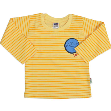 Fun Full Sleeve Cotton T-shirt (Lining Pattern)- Yellow-0