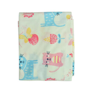 Baby Soft Wrapping Sheet for Swaddling (S) - Cat Print-0