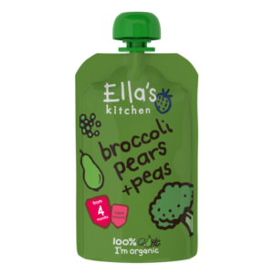 Ella's Kitchen Organic Broccoli Pears + Peas Puree (4M+) - 120G-0