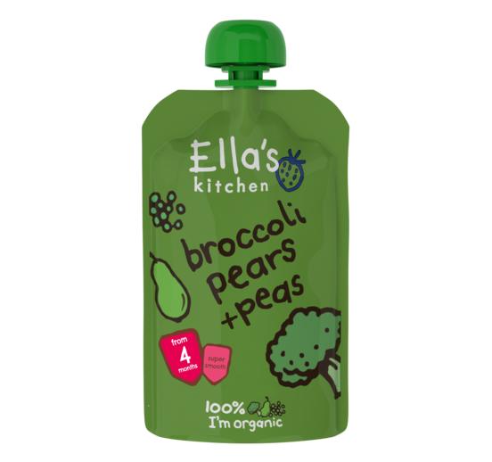 Ella's Kitchen Organic Broccoli Pears + Peas Puree (4M+) - 120G-0