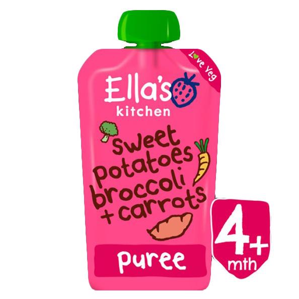 Ella's Kitchen Sweet Potatoes, Broccoli + Carrots -120g-0
