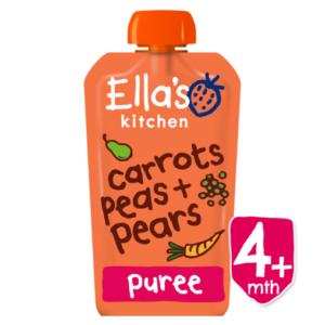 Ella's Kitchen Organic Carrots Peas + Pears (4M+) - 120gm-0