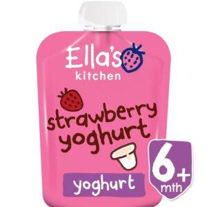 Ella's Kitchen Organic Strawberry Yoghurt (6M+) - 90g-0