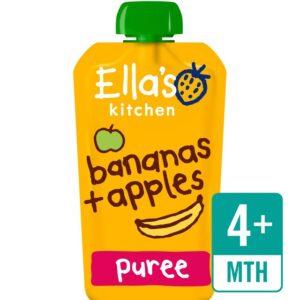 Ella's Kitchen Organic Banana & Apple (4M+) - 120g-0
