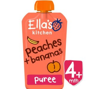 Ella's Kitchen Organic Peaches & Bananas Puree (4M+) - 120g-0