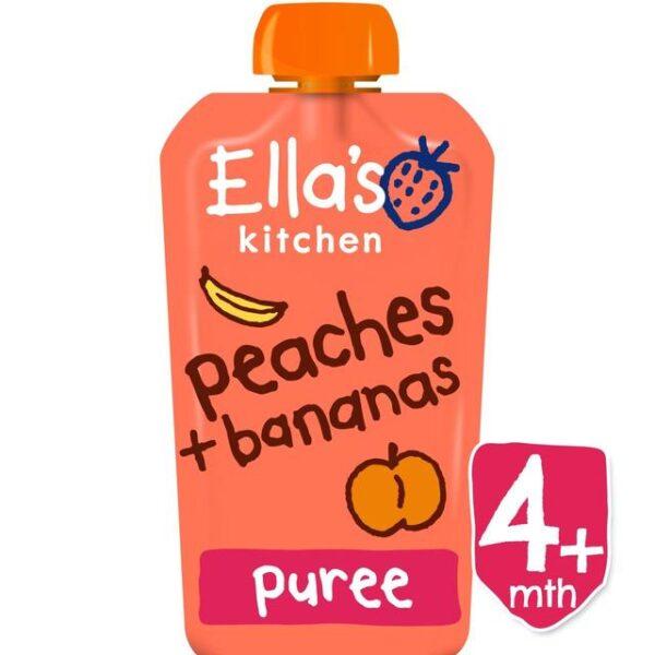 Ella's Kitchen Organic Peaches & Bananas Puree (4M+) - 120g-0