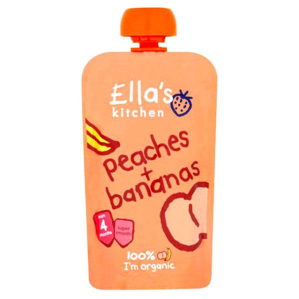 Ella's Kitchen Organic Peaches & Bananas Puree (4M+) - 120g-19480