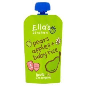 Ella's Kitchen Organic Pears Apple & Baby Rice (4M+) - 120 gm-0
