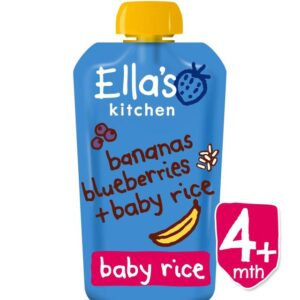 Ella's Kitchen Bananas, Blueberries & Baby Rice (4M+) 120g-0