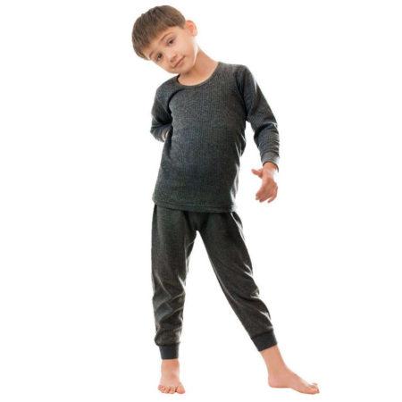 Bodycare Insider Thermal Inner Wear Set - Charcol-0