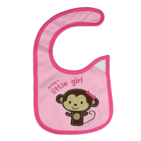 Carters Knitted Little Girl Print Bib - Pink-0