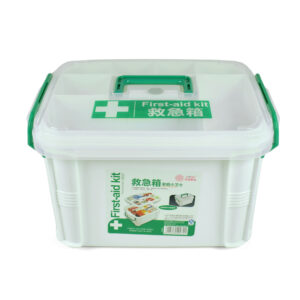 Baby First-Aid Medical Kit Cum Storage Box - White-0