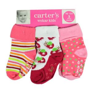 Carters Anti Skid Baby Socks (3 Pair) - Multicolor-0