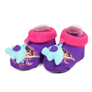 Babys World Socks Shoes With Motif - Voilet-0
