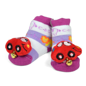 Babys World Socks Shoes With Motif - Multicolor-0