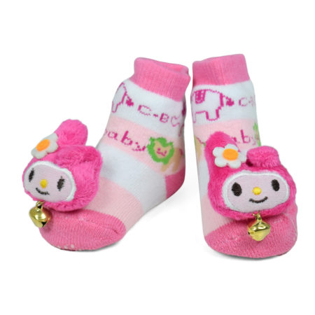 Babys World Socks Shoes With Motif - Pink-0