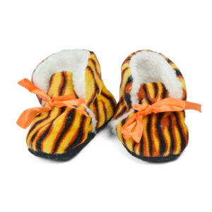 Soft Cozy Fleecy Baby Fur Shoes - Tiger Pattern-0