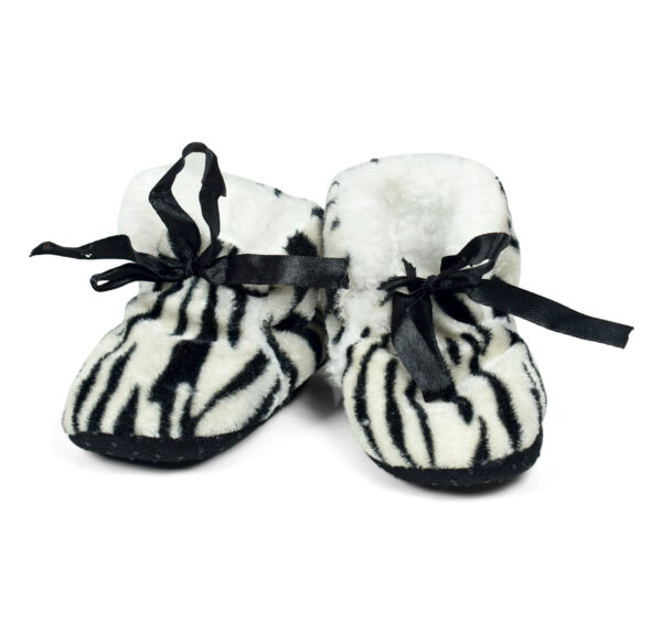 Soft Cozy Fleecy Baby Fur Shoes - Black-0
