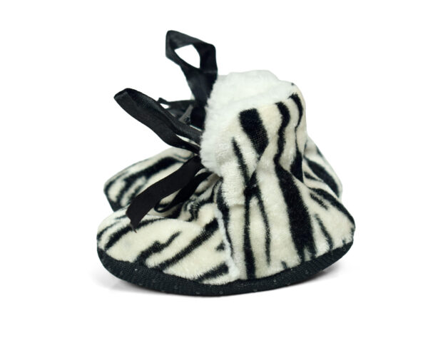 Soft Cozy Fleecy Baby Fur Shoes - Black-19248