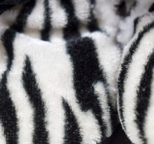 Soft Cozy Fleecy Baby Fur Shoes - Black-19247