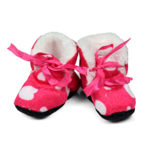 Soft Cozy Fleecy Baby Fur Shoes - Pink-0