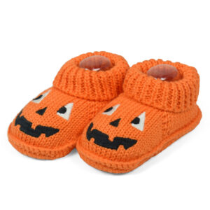 Carter'sTrendy Looks Knitted Woolen Booties - Orange-0