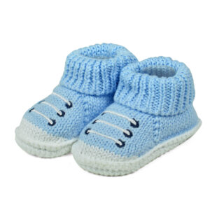 Carter's Trendy Looks Knitted Woolen Booties - Sky Blue-0