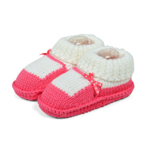 Carter's Trendy Looks Knitted Woolen Booties (Sandal Style) - Peach-0