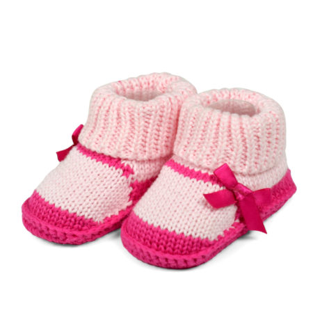 Carter's Trendy Looks Knitted Woolen Booties (Sandal Style) - Pink-0