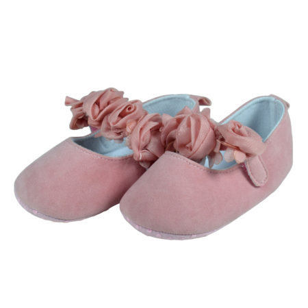 Babys Soft Sandals/Booties for Girls - Peach-0
