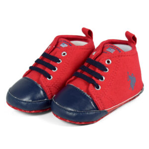 Babys Soft Shoes/Booties - Red-0