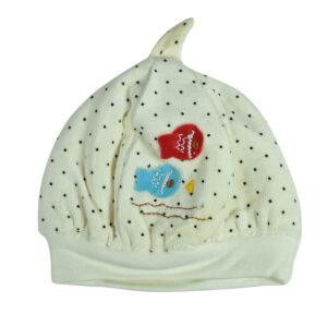 Carters Baby Winter Cap (Polka Dots) - Cream-0
