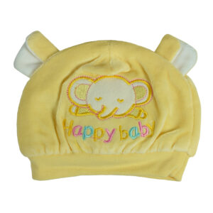 Carters Baby Winter Cap (Elephant Patch) - Yellow-0