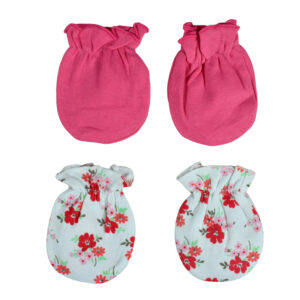 Carters Love 2 Pair of Mittens - Pink/White-0